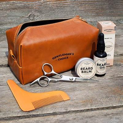 Ge bort ett grooming kit för skägget